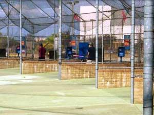 batting cages at amusement park