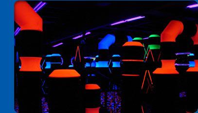 laser tag arena at family fun center