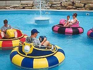 bumper boats at family fun park