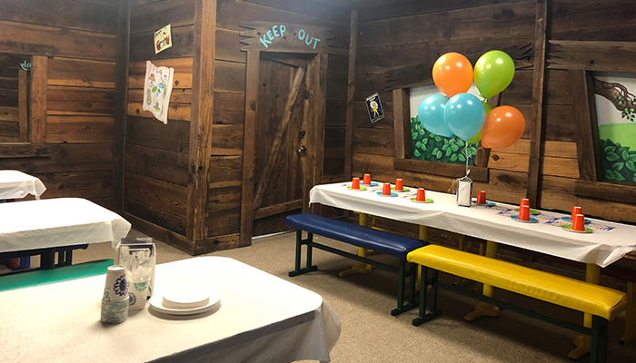 clubhouse kids party area